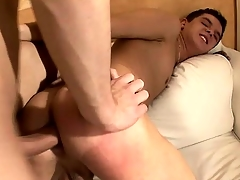 Two Texan twink chum toys get into some hot and hellacious anal action
