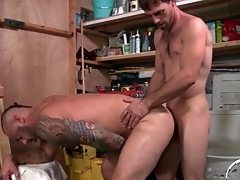 Bear bent over in a catch garage and aggravation fucked