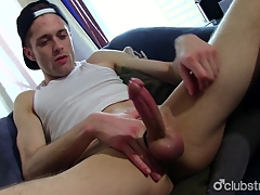 Slim Straight Guy Joshua Masturbating
