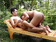 Young asian twink bareback banged not at home