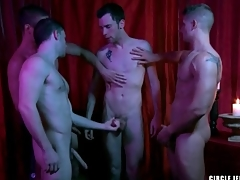 One guys cum on transmitted to unseemly in circle beat it