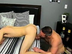 Twinks XXX He gets on his knees increased by sucks Brock\'s knob befor