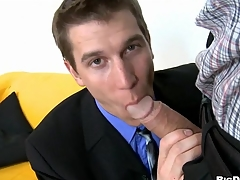 Attractive dude is engulfing gay stud's lengthy lovestick zealously