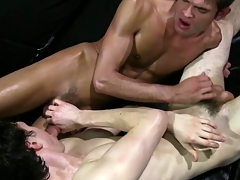 Teen clumsy students sucking for their initiation