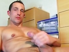 Full video (25mns): A str8 soccer player gets wanked his famous cock by a tramp