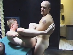 Gay group sex with hot blowjobs and naff ass fucking by the four